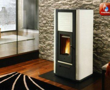 Estufa a pellets para aquecimento central Piazzetta Refª P966 Thermo