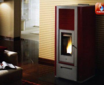 Estufa a pellets para aquecimento central