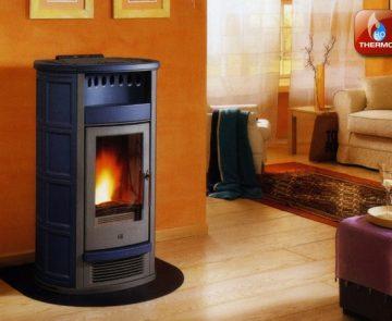 Estufa a pellets para aquecimento central Piazzetta Refª P961 Thermo